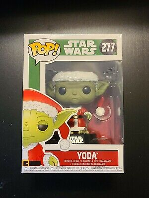 Funko Pop! Vinyl Star Wars Christmas Outfit Santa Claus Yoda #277 Figure.