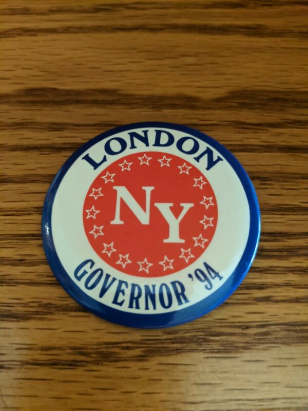 Herb London for New York State Governor 1994 Campaign Button RARE
