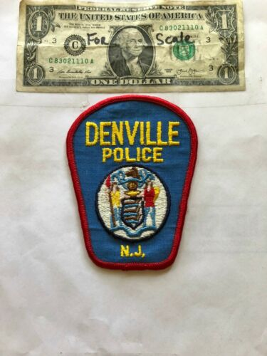 Denville New Jersey Police Patch un-sewn Great Shape