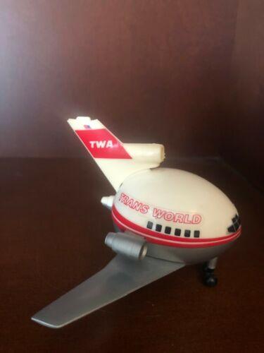 Vintage TWA Trans World Airlines Mini Fat Plastic Jet Plane