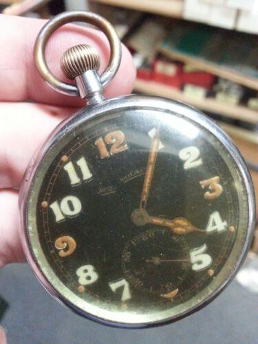 Jaeger LeCoultre Pocket Watch 15J 18S GSTP 230360 XX Broad Arrow WW2 era Cal 467