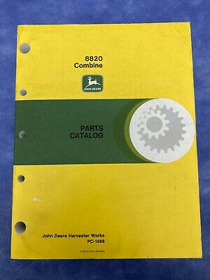 John Deere Parts Catalog For 8820 Combine Pc1668