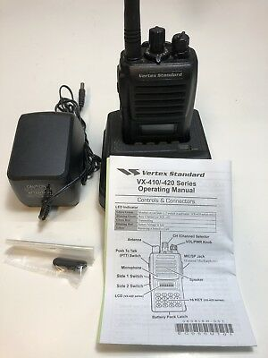 Vertex Standard Vx-424 Vhf Portable Radio 148-174mhz With Digital Record Option
