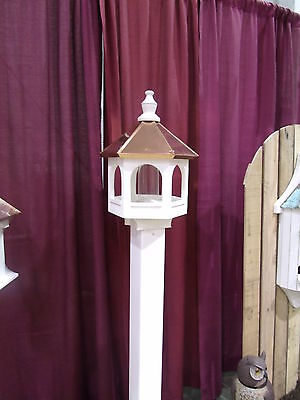 Copper top  Roof Bird Feeder Amish Made in USA X-Large 21 inches TALL 14 wide