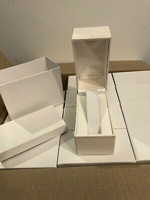 Lot Of 12 Gift Retail Watch Bracelet Presentation Boxes Nib White