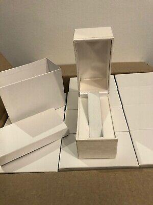 Lot Of 12 Gift Retail Watch Bracelet Presentation Boxes Nib White