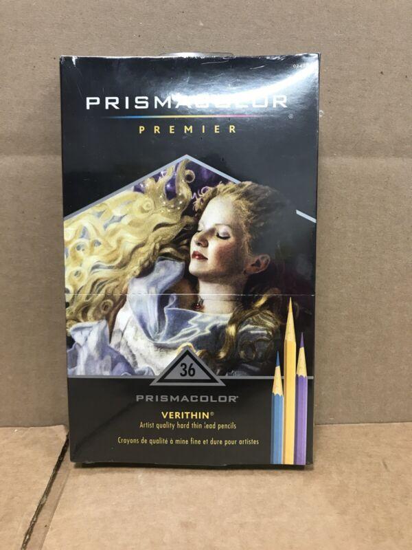 Prismacolor Premier Verithin, Artist quality hard thin lead pencils, 36 count, N