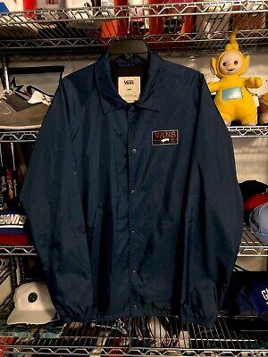 Vans Navy Blue Windbreaker Mens Jacket Size L