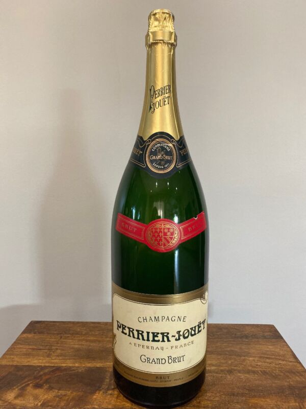 Perrier-Jouet Grand Brut Champgne Bottle 3000ml Empty Display 19.5 Inches Tall