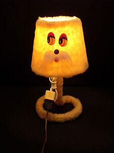 Lampe-a-Poser-Peluche-Annees-70-039-80-039-Vintage-34-cm-de-Haut-Kitch