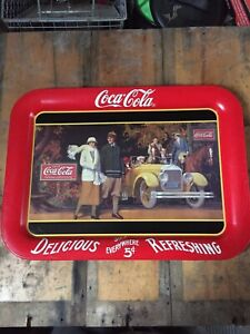 Coca Cola tin tray for sale