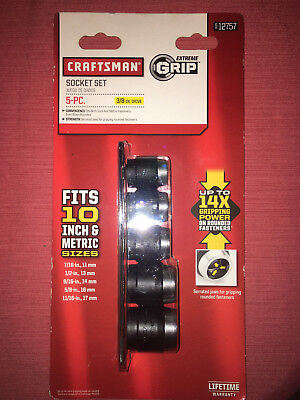 NEW CRAFTSMAN  EXTREME GRIP 5-PIECE SOCKET SET(ADJUSTABLE!!) (3/8-In. Drive) NIB