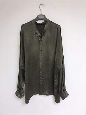 haider ackermann Green Silk Shirt Size 38