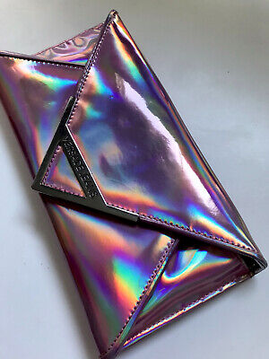 Versace Jeans Wallet On Chain/ Clutch In Metallic Pink W21 H10.5