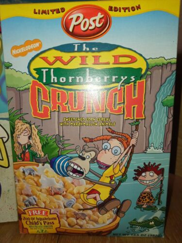 Cereal box THE wild thornberrys full box year 2000