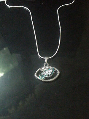Eagles Sterling Silver Eagles (Philadelphia Eagles Necklace Pendant Sterling Silver Chain NFL)
