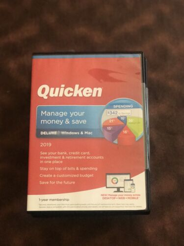 Quicken Deluxe 2019 Personal Finance Software - Windows and Mac