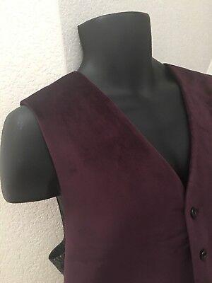 $95 Lauren Ralph Lauren Men's Classic Fit Velvet Vest Size XL Burgundy Purple