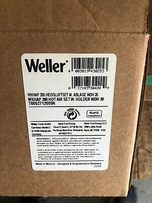 Weller Wxhap 200 Hot Air Set With Holder Wdh30 New In Box
