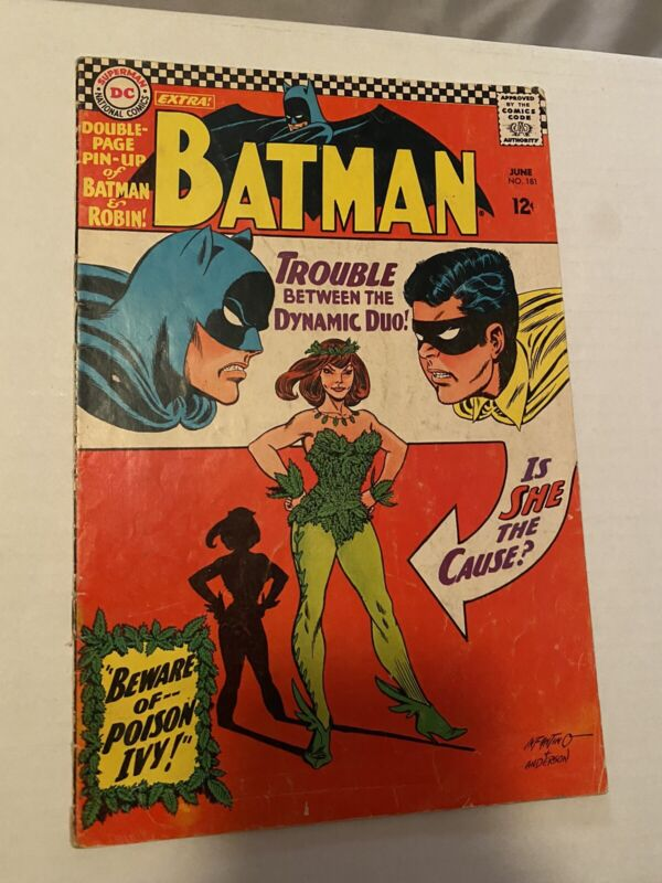 Batman #181 Vol 1st Appearance of Poison Ivy No Pin-Up 1966