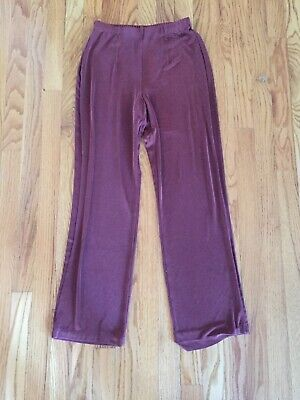 Chico's Travelers 0 Rust Flat Front Slinky Pants Acetate/Spandex Pants  Small Acetate Flat Front Pants