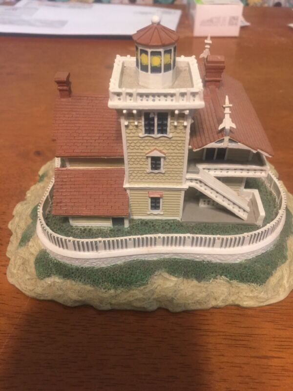 East Brother Light Station From The Danbury Mint Historic Lighthouse Collection