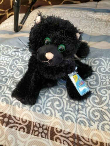 WEBKINZ BLACK CAT HM135  BRAND NEW SEALED WITH USED CODE