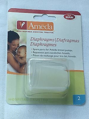 - Ameda Silicone Diaphragms, Clear, 2 Count , New, Free Shipping