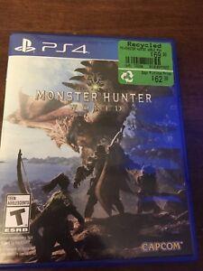 PS4 Monster Hunter World MHW