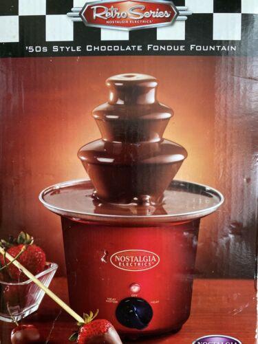 Nostalgia Electrics 3 Tier Chocolate Fondue Fountain Machine