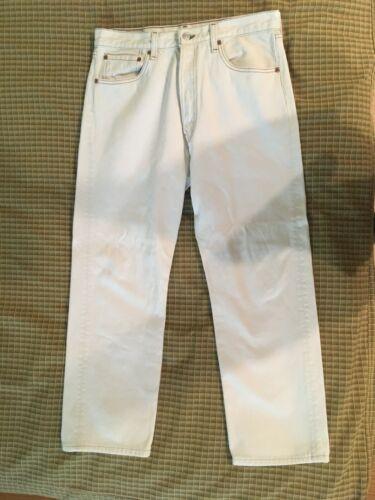 Levis 501 Vintage White Jeans