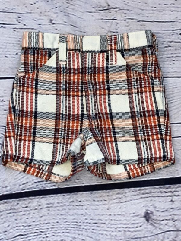 Vintage WINNIE-THE-POOH Plaid Shorts Size 4 SEARS Perma-prest
