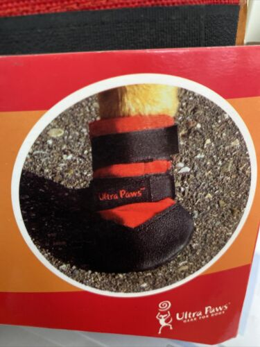 Ultra Paws Rugged Dog Boots Super Grip Sole Flexible Stays On Sizes L - $21.99