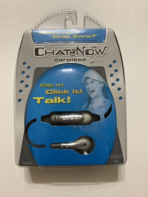 Hasbro Tiger Electronics Chat Now Earpiece Click it! Talk! New Sealed