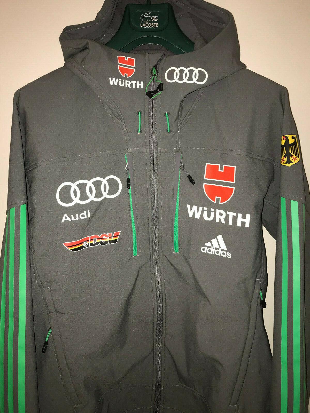 ORIGINAL DSV ADIDAS Athleten Ski Jacke Größe 48 Grün Audi