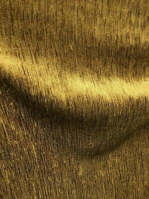 DARK GOLD SOLID CHENILLE VELVET UPHOLSTERY DRAPERY FABRIC (54 in.) Sold BTY - Gold Fabric