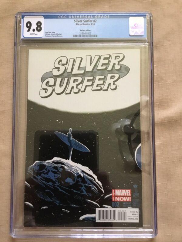Silver Surfer #2 Francesco Francavilla Variant 1:50 HTF CGC 9.8 Marvel Disney+