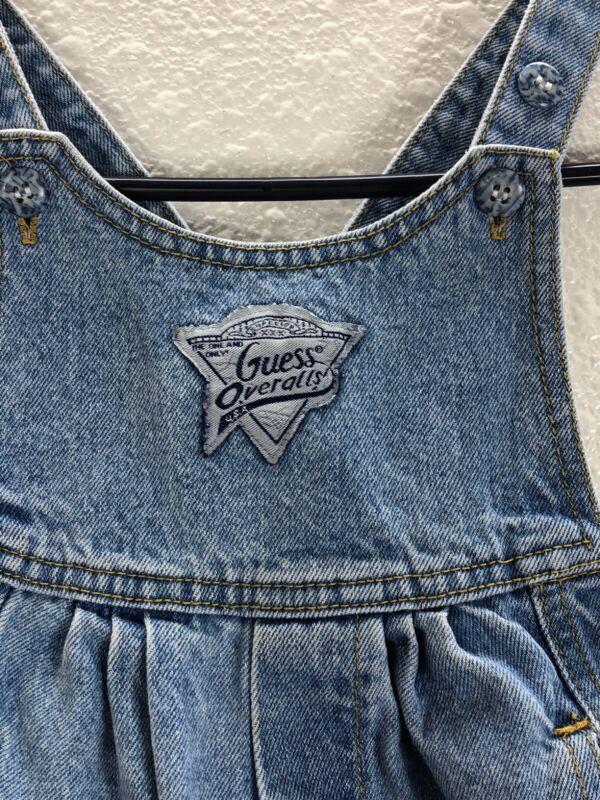 Toddler Baby Girl Guess Denim bib Overalls  9J1035  2T 24 months Vintage USA Mad