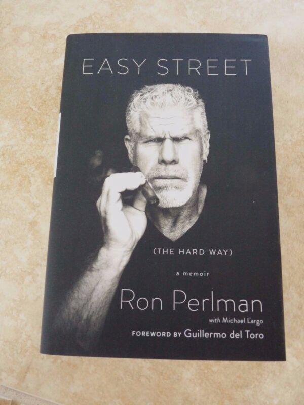 Ron Perlman Easy Street SOA Hellboy Signed Autographed Book PSA Guaranteed