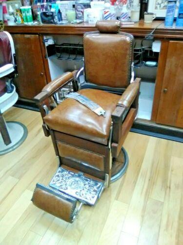 Vintage Koken Barber Supply Co. Barber Chair Wood