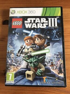LEGO Star Wars 3 The Clone Wars Xbox 360 Game Good Cond. TESTED FREE FAST POST