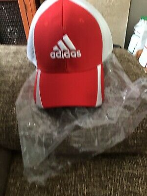 BRAND NEW red and white adidas cap