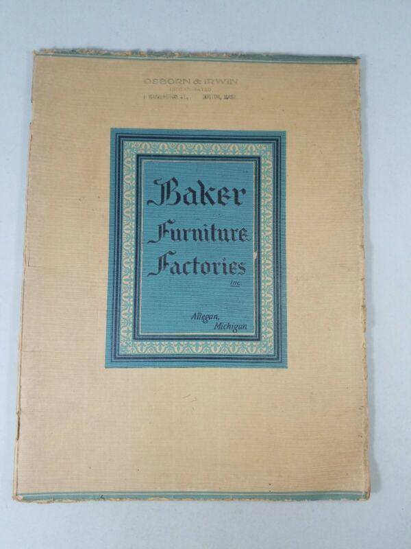 1930 BAKER FURNITURE FACTORIES DEALERS