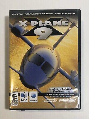X-Plane 9 Flight Simulator Video Game Windows Mac Linux Compatible 6 DVDs Manual