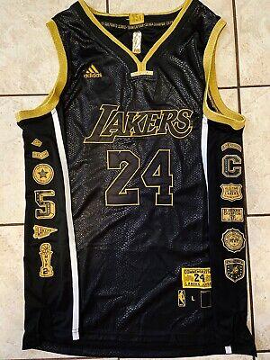 New Kobe Bryant #24 Black Snakeskin Retirement  Lakers Jersey S-2XL