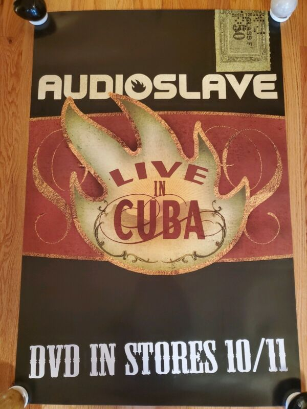 AUDIOSLAVE - Live in Cuba DVD Release Poster 2005 PROMO ONLY!!