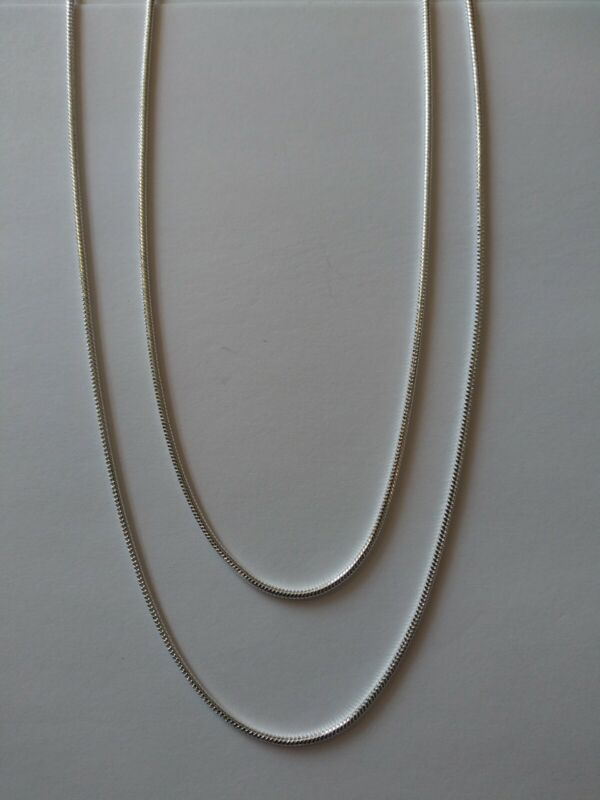 925 Sterling Silver Chain Necklaces 3 mm