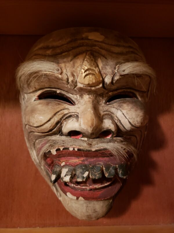 Grotesque Mask Handcarved Wood
