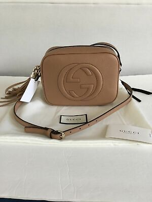 NWT 100% Authentic GUCCI Soho Leather Disco Bag