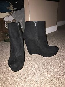 Black Suede 5inch booties (The Hudsons Bay) new! Size 9